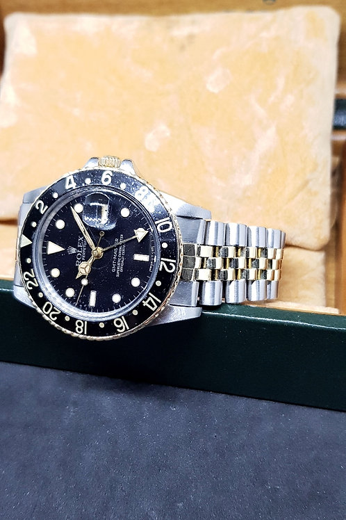 Rolex Oyster Perpetual Half Gold GMT Master REF: 16753