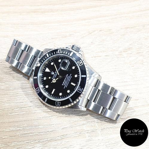 Rolex Oyster Perpetual Tritium Date Black Submariner REF: 16610 (E)(2)
