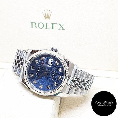 Rolex Oyster Perpetual 36mm Blue Computer Diamonds Datejust REF: 116234 (2017)