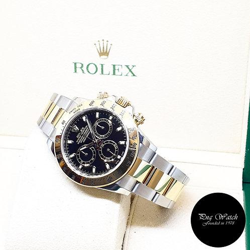 Rolex Oyster Perpetual 18K Half Gold Black Indexes Daytona REF: 116523 (2013)