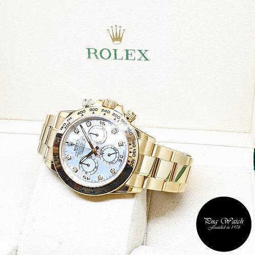 Rolex 18K Full Yellow Gold MOP Diamonds Daytona REF: 116508 (2019)