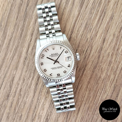 Rolex Oyster Perpetual 31mm White MOP Datejust REF: 68274 (2)