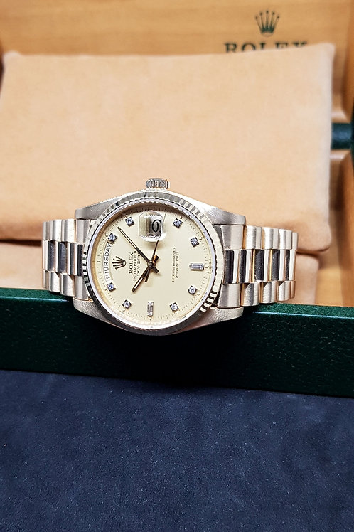 Rolex Oyster Perpetual 18K Solid Yellow Gold Diamonds Day-Date REF: 18038