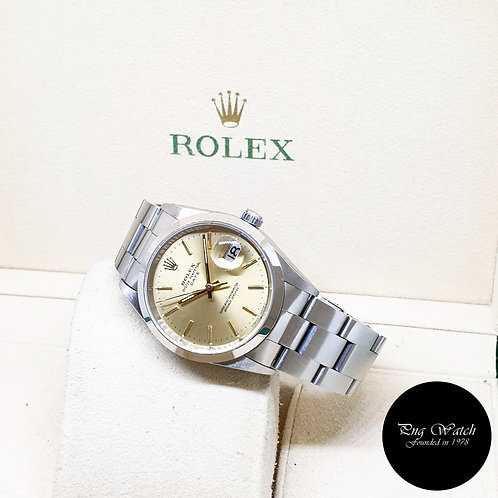 Rolex Oyster Perpetual Champagne Indexes Date Watch REF: 15200