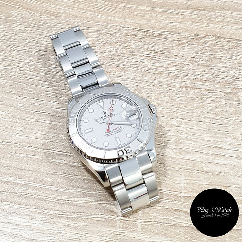 Rolex Oyster Perpetual Platinium 35mm Yachtmaster REF: 168622 (A)(2)