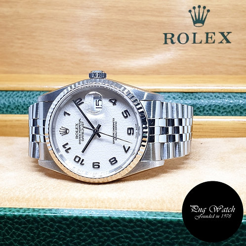 Rolex Oyster Perpetual Ivory Computer Arabic Datejust REF: 16234