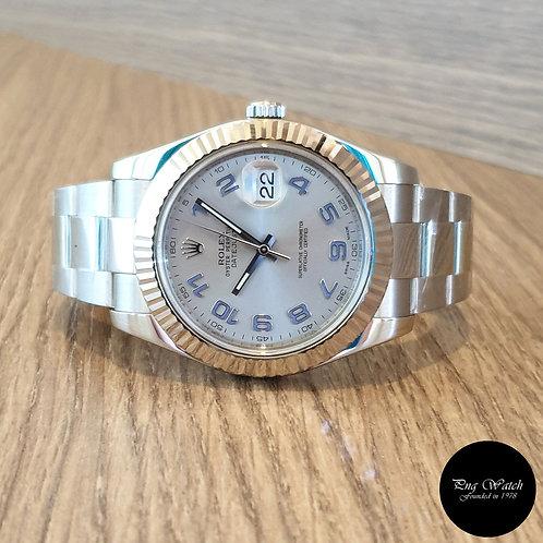 Rolex Oyster Perpetual Blue Arabic Datejust REF: 116334 (2)