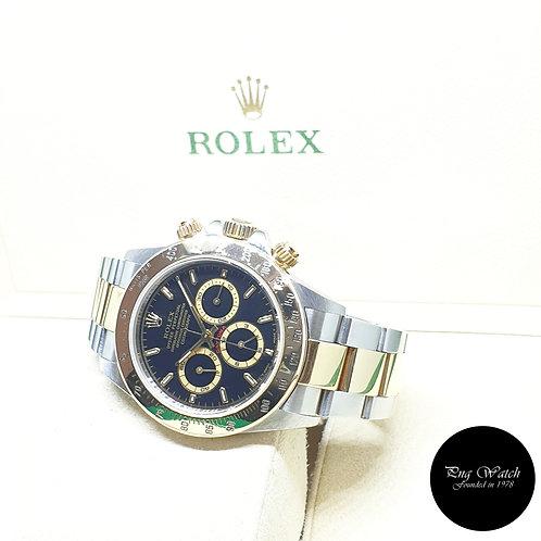 Rolex Perpetual 18K Half Gold Zenith Mvt Black Indexes Daytona REF: 16523