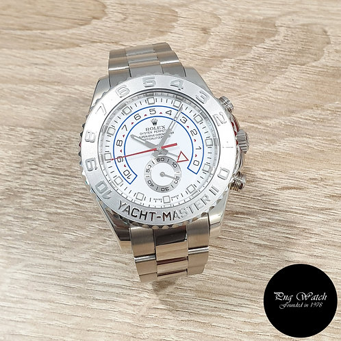 Rolex Oyster Perpetual 18K White Gold Yachtmaster II REF: 116689 (08)(2)