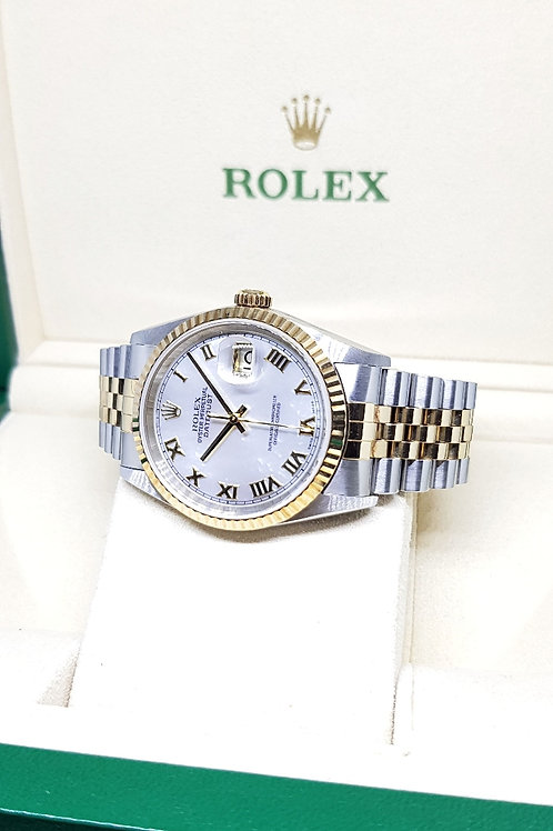 Rolex Oyster Perpetual Mother-Of-Pearl Roman Datejust REF: 16233