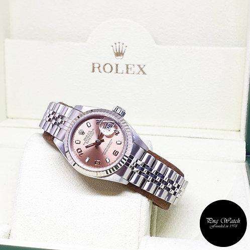 Rolex Oyster Perpetual Salmon Pink Arabic Ladies Datejust REF: 79174 (P Series)