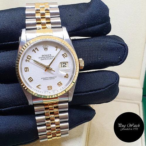 Rolex Oyster Perpetual Ivory Jubilee Arabic Datejust REF: 16233 (S)(2)