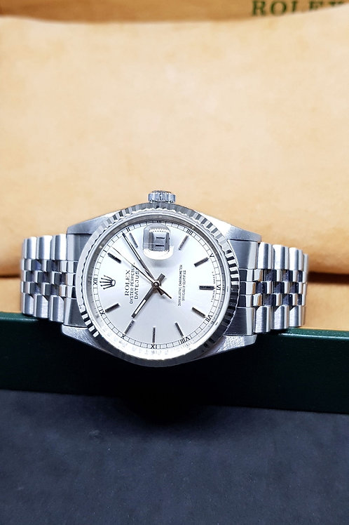 Rolex Oyster Perpetual Silver Index Datejust REF: 16234