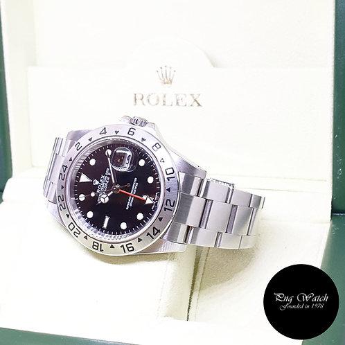 Rolex Oyster Perpetual Black Explorer 2 REF: 16570 (Y Series)