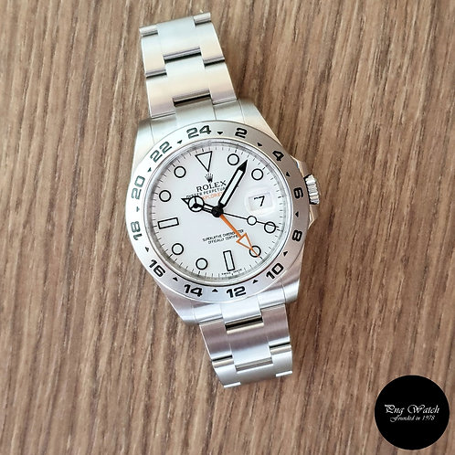 Rolex Oyster Perpetual 42mm White Explorer 2 REF: 216570 (2016)(2)