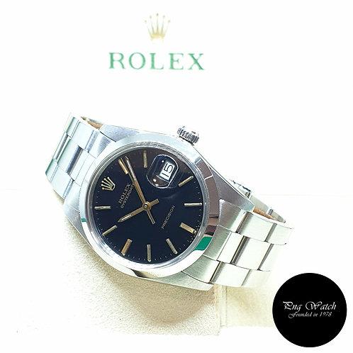 Rolex 34mm Gloss Black Oysterdate Precision REF: 6694 (April 1984)