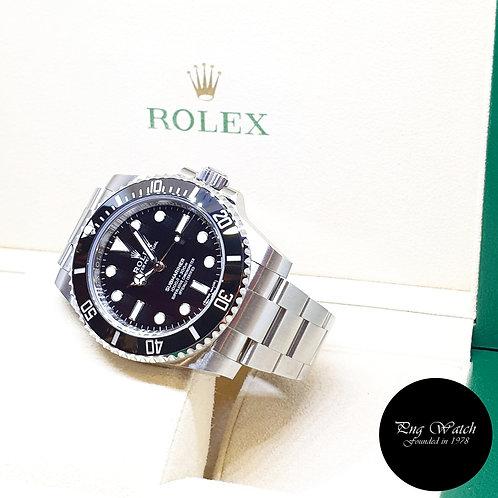 Rolex OP Steel Ceramic No Date Discontinued Black Submariner 114060