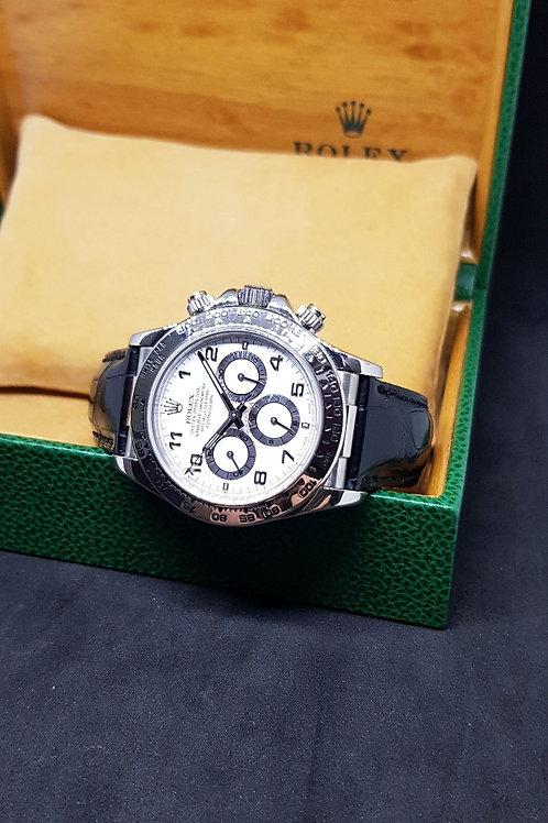 Rolex 18K White Gold Zenith Cosmograph Daytona REF: 16519