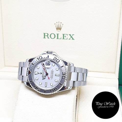 Rolex Oyster Perpetual 35mm Platinum Yachtmaster REF: 168622 (A Series)