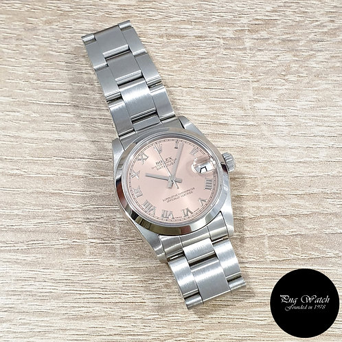 Rolex 31mm Pink Salmon Oyster Perpetual Datejust  REF: 68240 (T)(2)