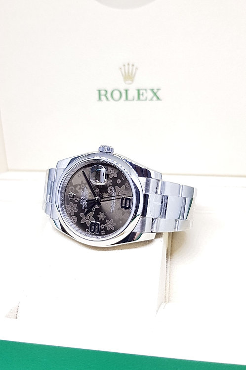 Rolex Oyster Perpetual Brown Flora Datejust REF: 116200