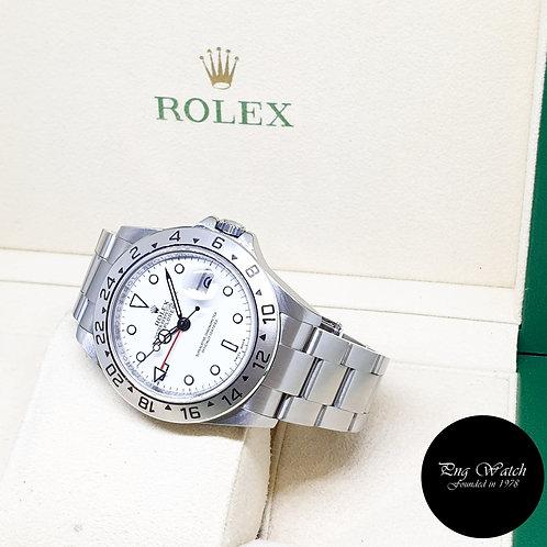"Rolex Oyster Perpetual White ""POLAR"" Explorer 2 REF: 16570 (2008)"