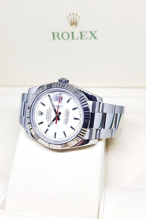 "Rolex White Datejust ""Turn-O-Graph"" REF: 116264"