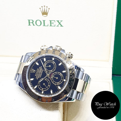 Rolex Oyster Perpetual 18K Half Gold Black Daytona REF: 116523