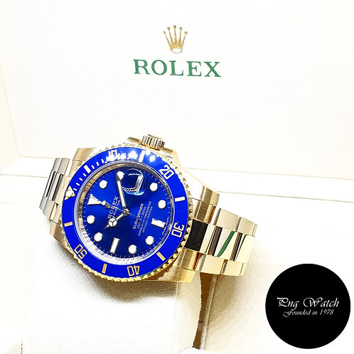 Rolex OP 18K Yellow Gold Ceramic Sunburst Submariner Date REF: 116618LB