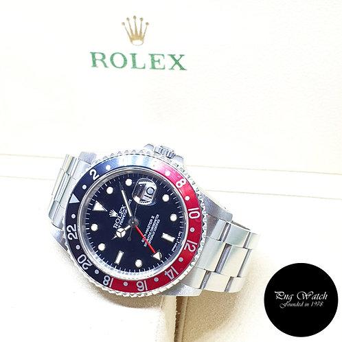 "Rolex Oyster Perpetual Tritium ""COKE"" Black GMT Master 2 REF: 16710 (T Series)"