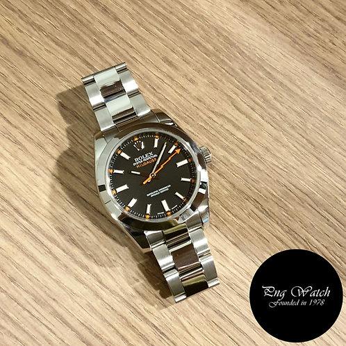 Rolex Oyster Perpetual Black Milgauss REF: 116400 (2)