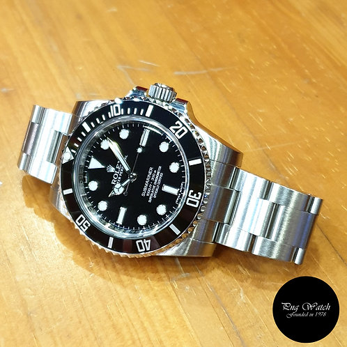Rolex Oyster Perpetual No Date Ceramic Black Submariner REF: 114060 (AN)(2)