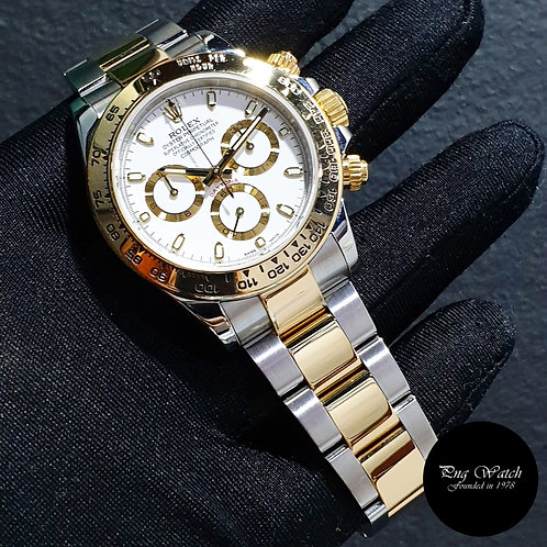 Rolex Oyster Perpetual 18K Half Gold White Indexes Daytona REF: 116503 (17)(2),