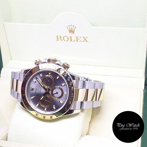 Rolex Oyster Perpetual 18K Half Gold Grey Daytona REF: 116523 (2012)