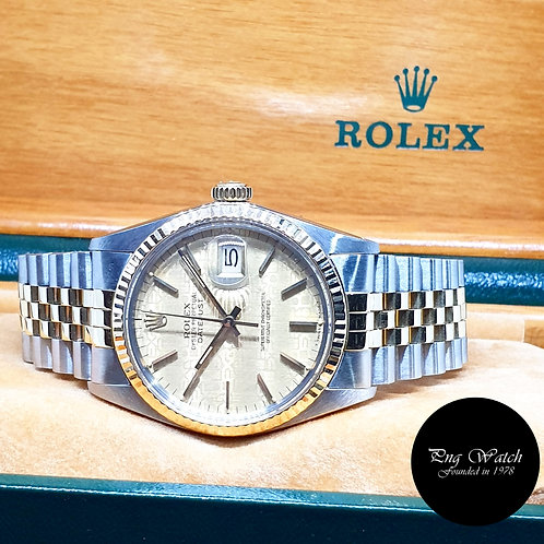 Rolex Oyster Perpetual Half Gold Computer Indexes Datejust REF: 16013