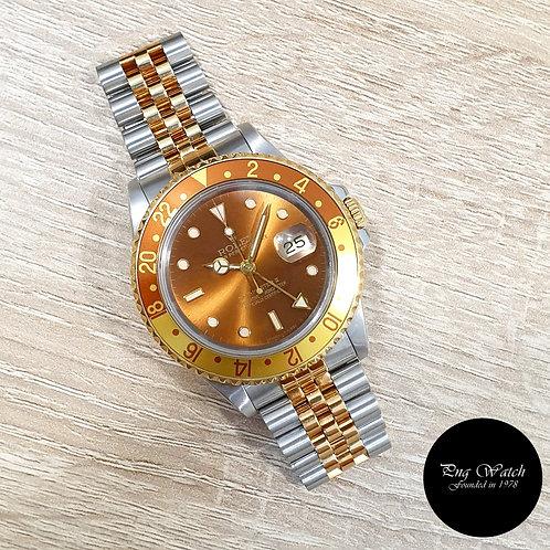"""Rolex OP 18K Half Gold """"Rootbeer"""" GMT Master 2 Jubilee Bracelet REF: 16713 (2)"""