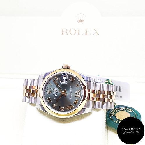 Rolex OP 31mm 18K Half Gold Olive Green Diamonds VI Datejust REF: 178243