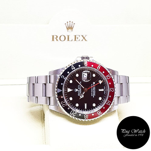 """Rolex Oyster Perpetual Date """"COKE"""" GMT Master 2 REF: 16710 (P Series)"""