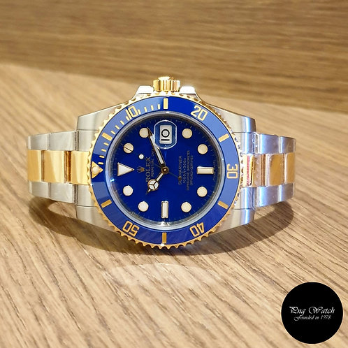 Rolex 18K Half Gold Matte Blue Submariner REF: 116613LB