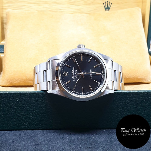 Rolex Oyster Perpetual 34mm Black Air-King REF: 14000