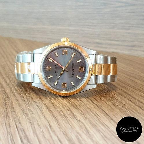 Rolex 18K Half Gold 34mm Grey Oyster Perpetual REF: 14203M (2)