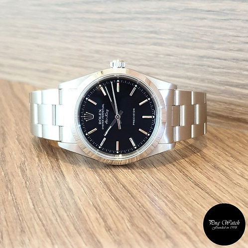 Rolex 34mm Black Oyster Perpetual Air-King REF: 14000M (2)
