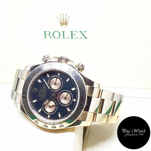 Rolex Oyster Perpetual 18K Rose Gold Black Indexes Daytona  REF: 116505