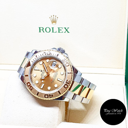 Rolex Oyster Perpetual 18K Half Gold Champagne 40mm Yachtmaster REF: 16623 (G)