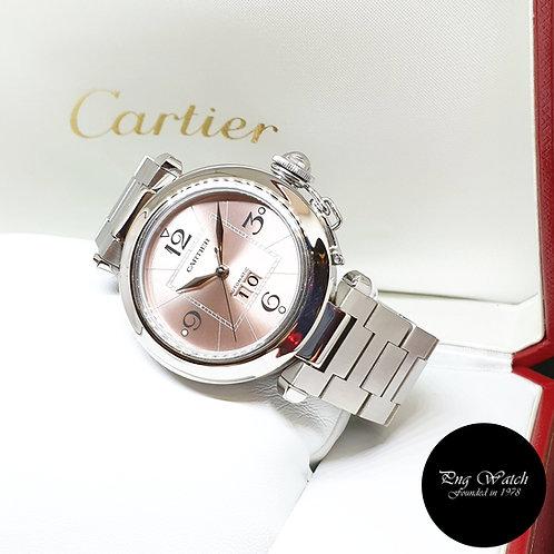 Cartier Pink Pasha Big Date REF: 2475