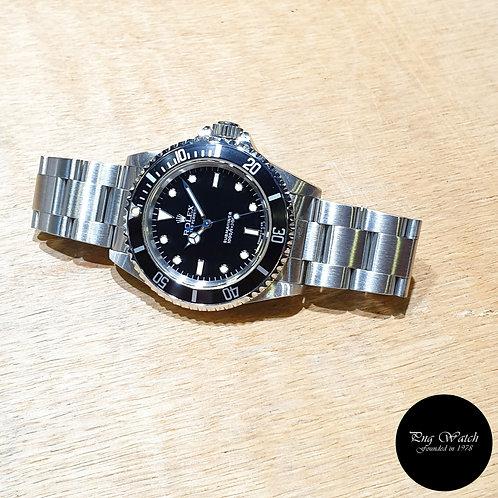 Rolex Oyster Perpetual Steel Tritium No Date Black Submariner REF: 14060 (2)