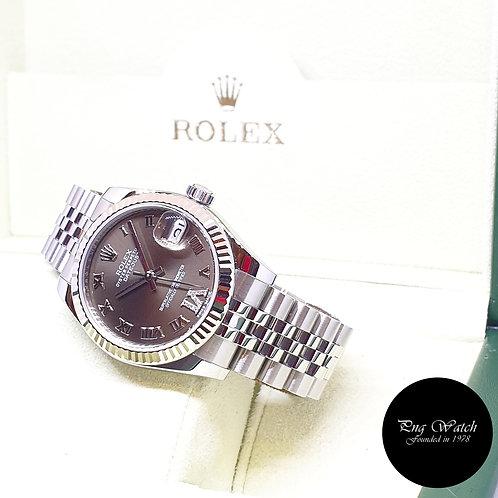 Rolex Oyster Perpetual 31mm Olive Green Diamond VI Datejust REF: 178274 (2013)