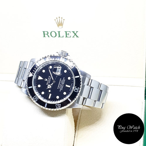 Rolex Oyster Perpetual Date Black Submariner REF: 16610 (Z Series)