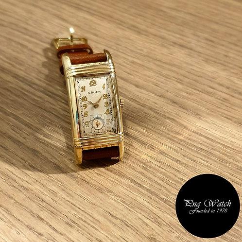 Vintage 1930s Gruen Rectangular Gold filled Watch REF: 501-278 (2)