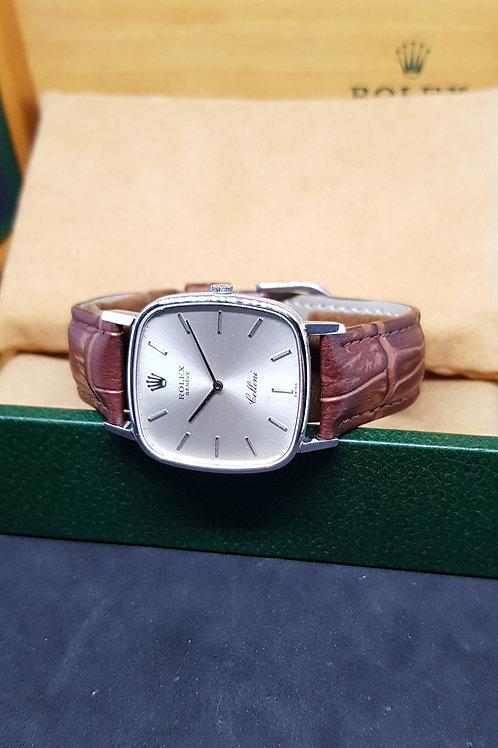 Rolex 18K White Gold silver Cellini REF: 4114